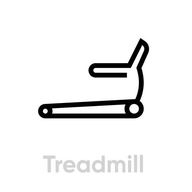 Treadmill sport activity icon vector art illustration