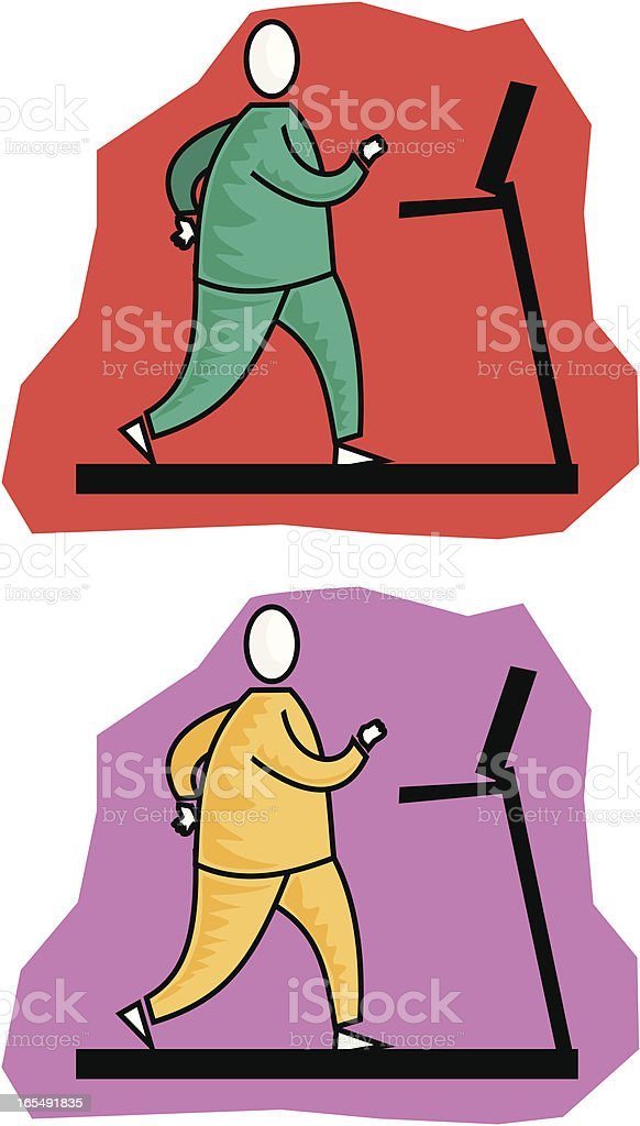 Treadmill royalty-free stock vector art