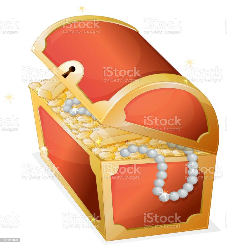 Treasure box royalty-free stock vector art