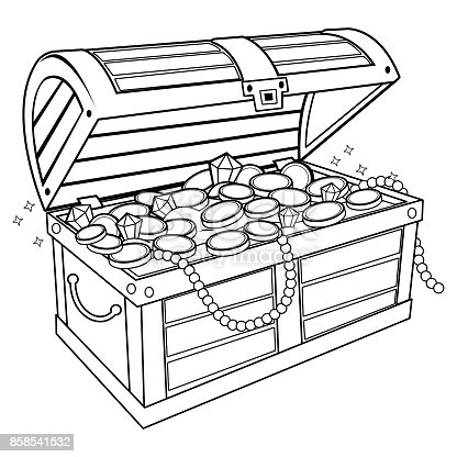gold and jewels coloring pages - photo#16