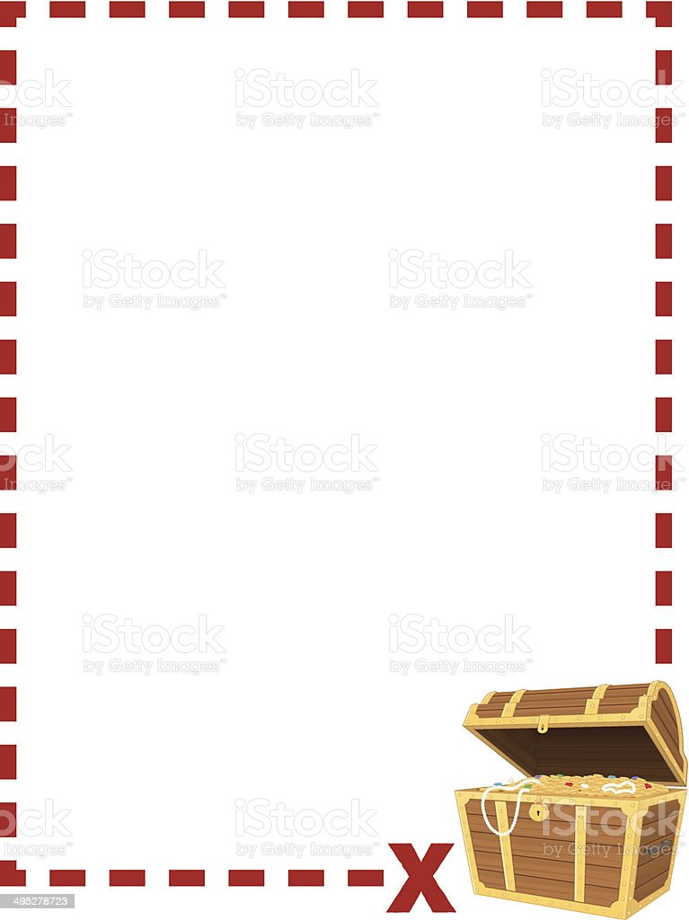 Treasure Chest Border Stock Vector Art Amp More Images Of