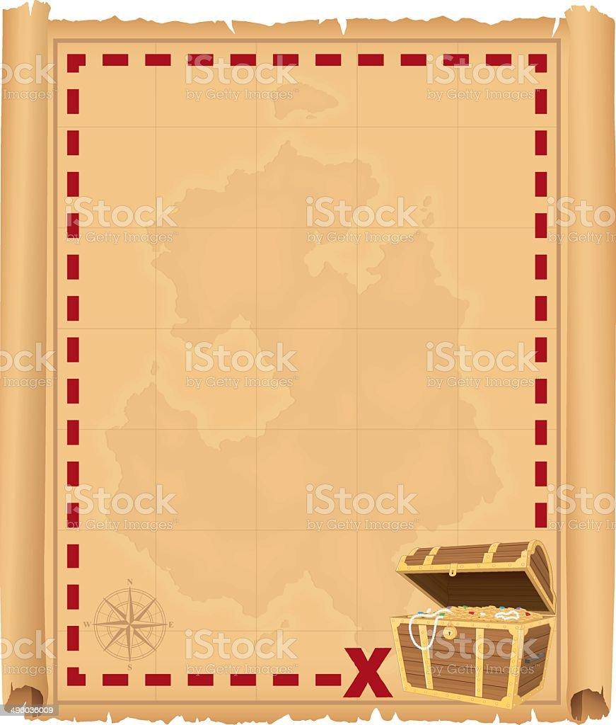 Treasure Chest Border royalty-free stock vector art