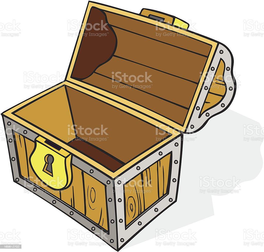 Treasure Chest - Empty, Cartoon royalty-free stock vector art