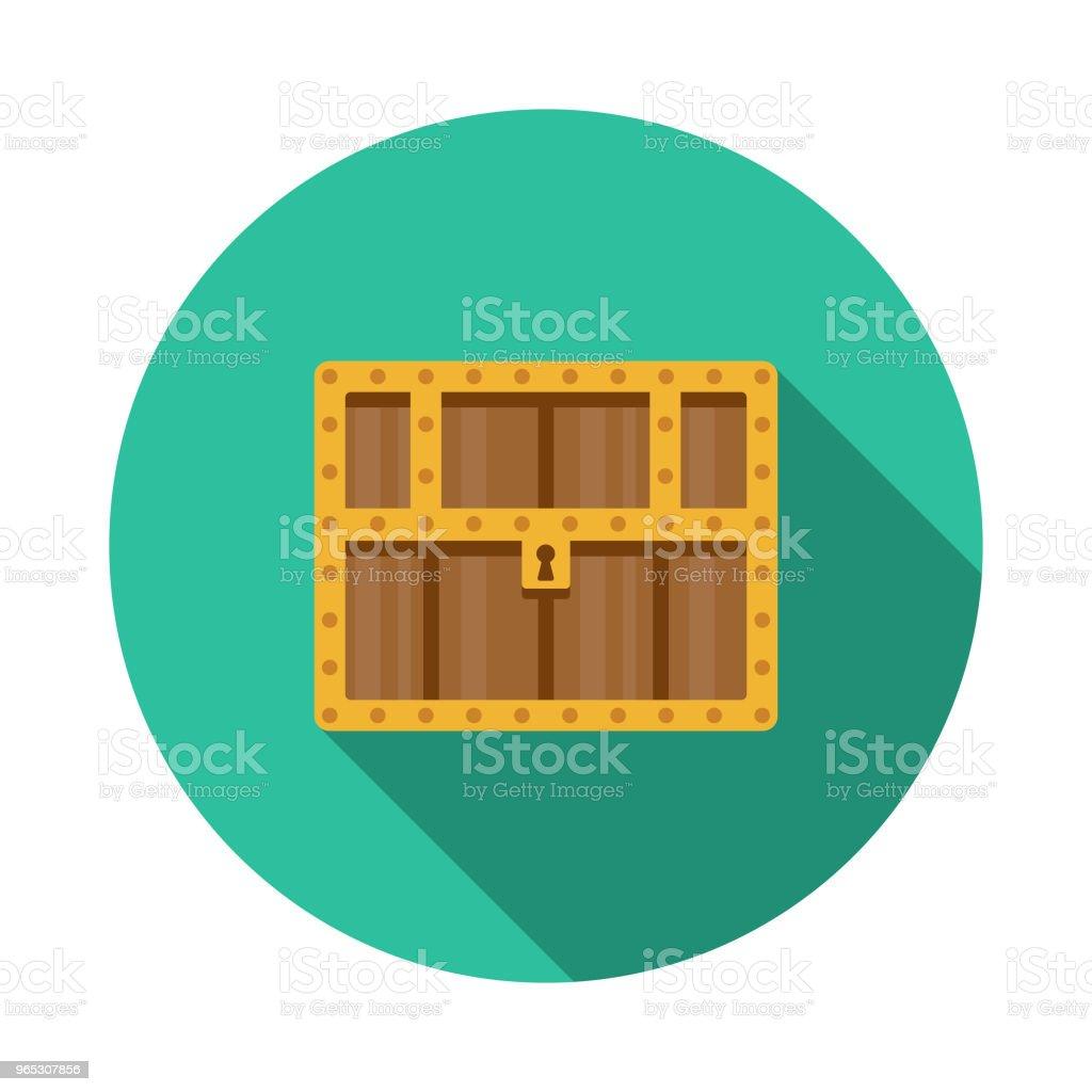 Treasure Chest Design plat fantaisie icône - clipart vectoriel de Antiquités libre de droits