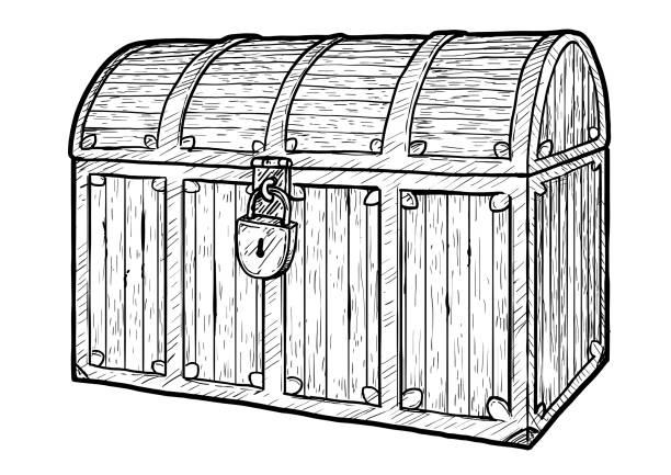 Royalty Free Treasure Box Clip Art, Vector Images ...