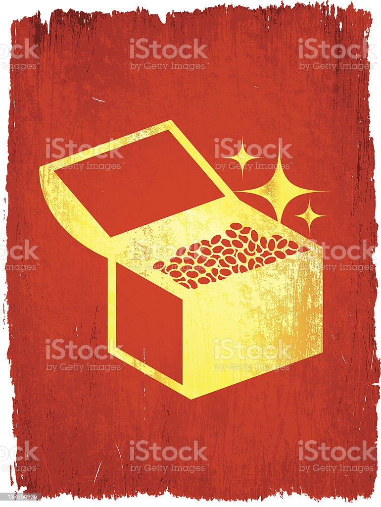 treasure chest on royalty free vector Background royalty-free stock vector art