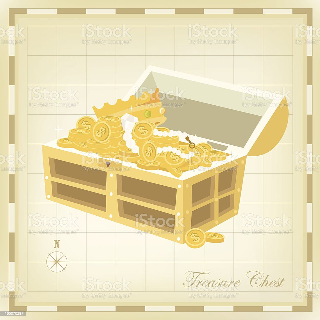 Treasure chest royalty-free stock vector art