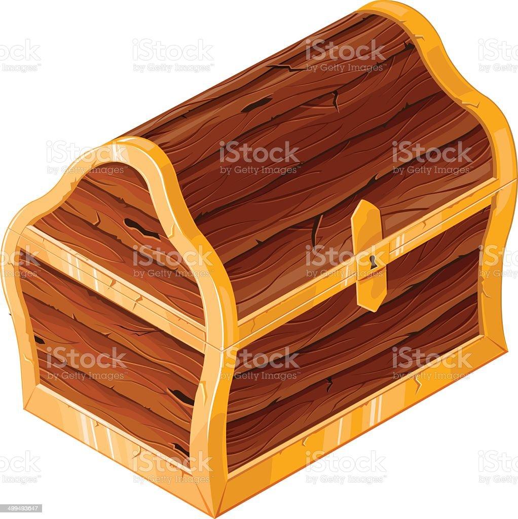 Treasure chest vector art illustration