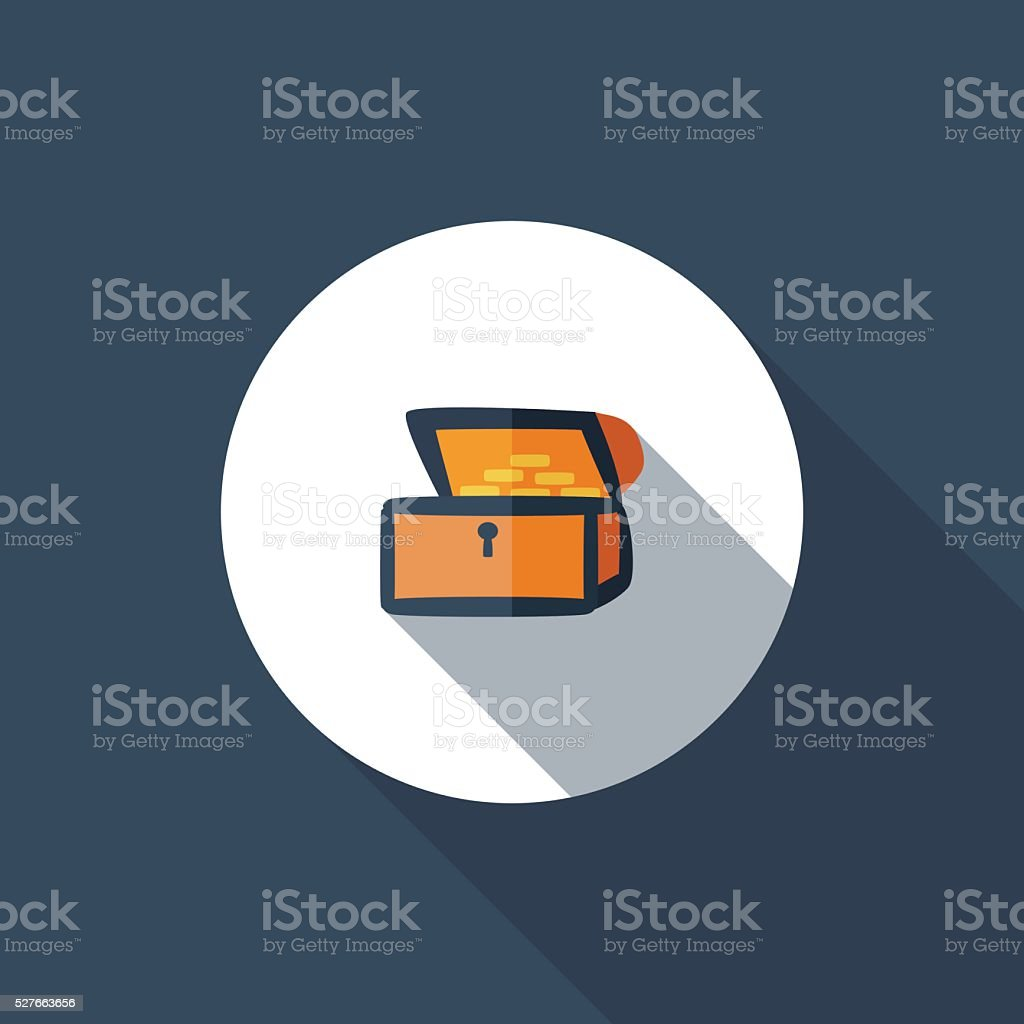 Treasure Chest vector art illustration