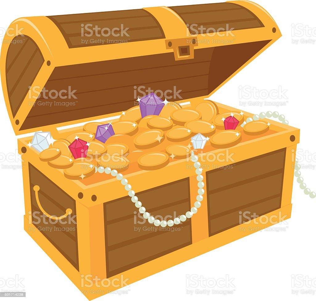 royalty free treasure chest clip art vector images illustrations rh istockphoto com treasure chest box clipart treasure box clipart black and white