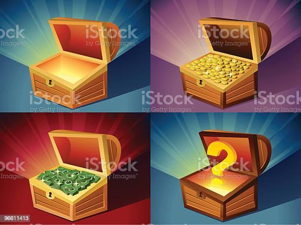 Treasure Chest-vektorgrafik och fler bilder på Alternativ