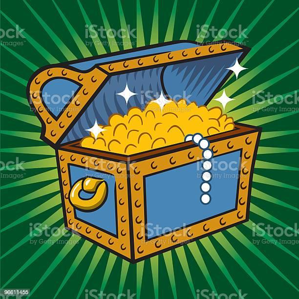 Treasure Chest-vektorgrafik och fler bilder på Besparingar
