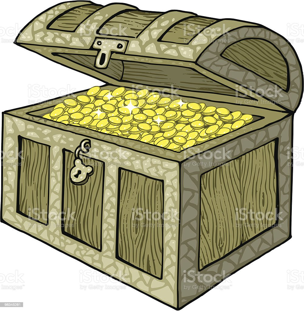 Treasure Chest royalty-free treasure chest stock vector art & more images of abundance