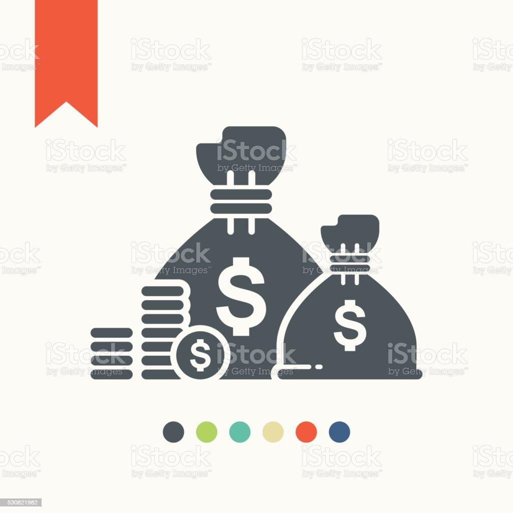 treasure icon vector art illustration