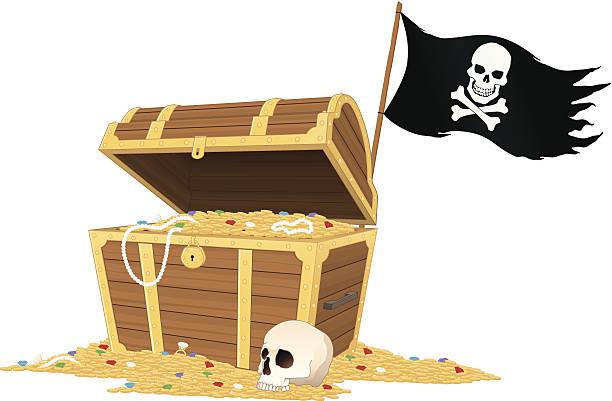 treasure island - entdeckungskiste stock-grafiken, -clipart, -cartoons und -symbole
