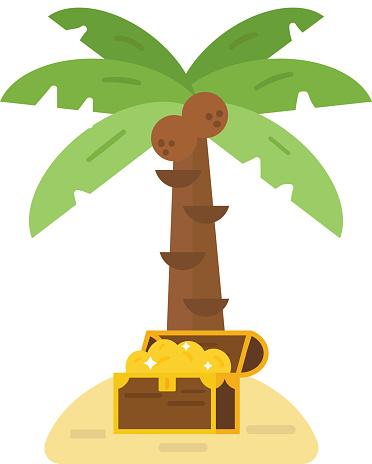 Treasure island vector illustration.