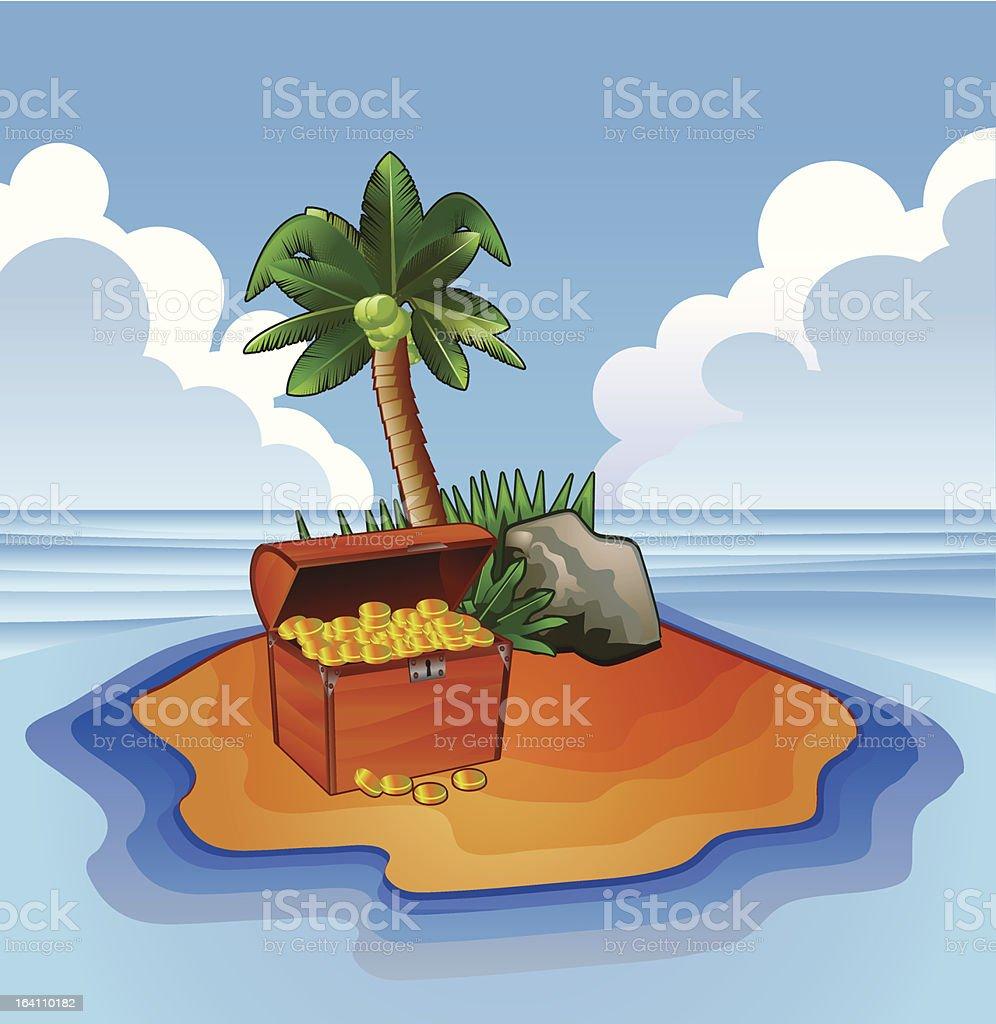 Treasure island vector royalty-free stock vector art