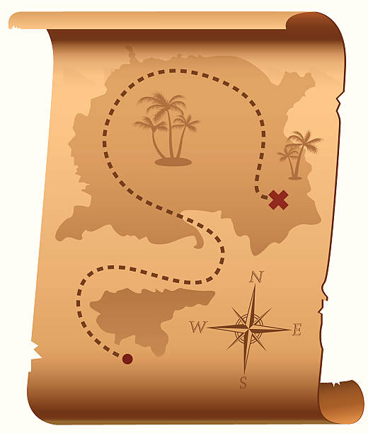 treasure map - treasure map backgrounds stock illustrations, clip art, cartoons, & icons