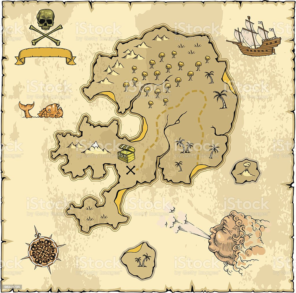 treasure map stock vector art 98345235 istock