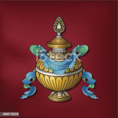 istock Treasure vase / Kumbha – (Auspicious Buddhist symbol) 499579329