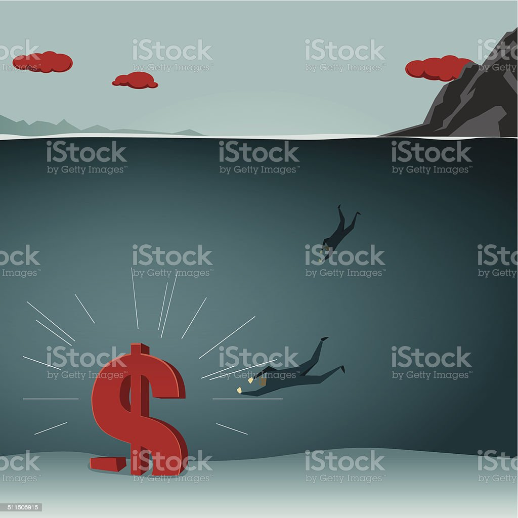 treasure vector art illustration