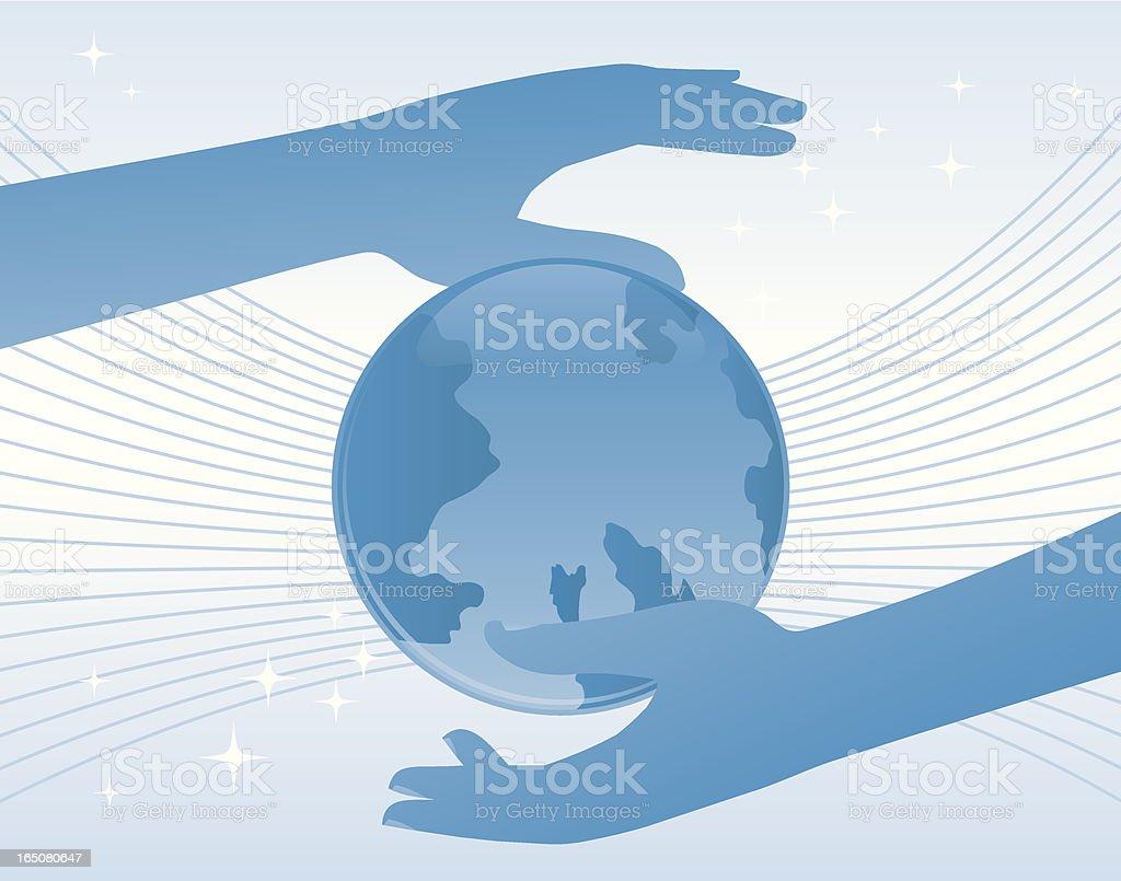 Treating hands. royalty-free stock vector art