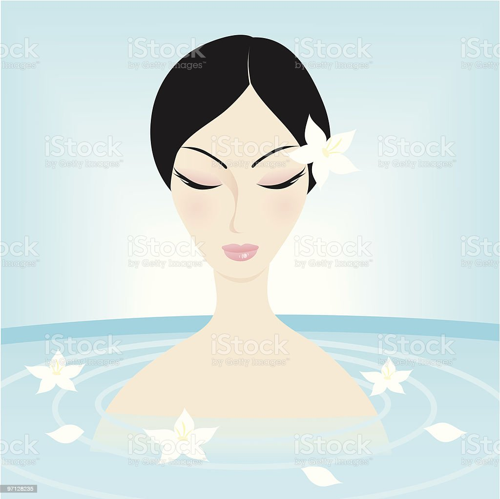 SPA treatment royalty-free spa treatment stock vector art & more images of adult