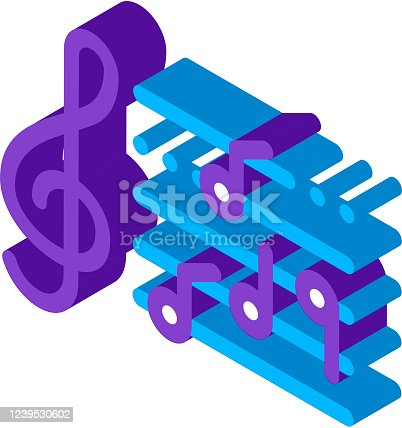 istock Treble Clef And Musical Notes Opera Element Vector 1239530602