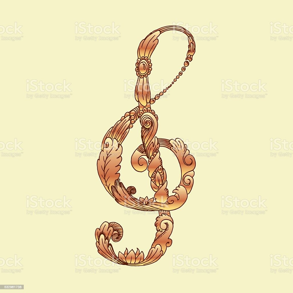 Chiave Di Violino Disegno Immagini Vettoriali Stock E Altre