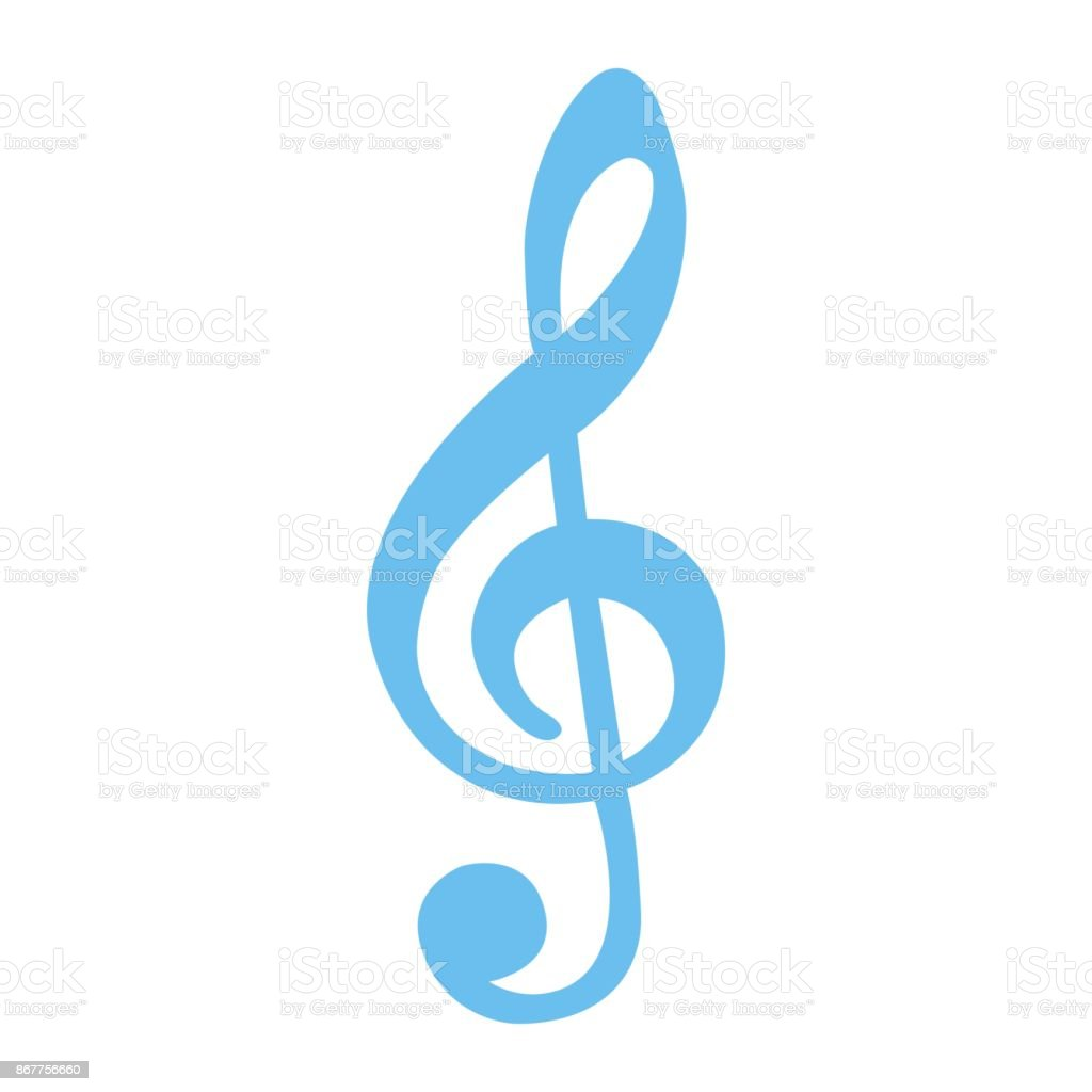 treble clef flat icon music and instrument note sign vector graphics rh istockphoto com Music Notes Trebel Treble Clef All Notes