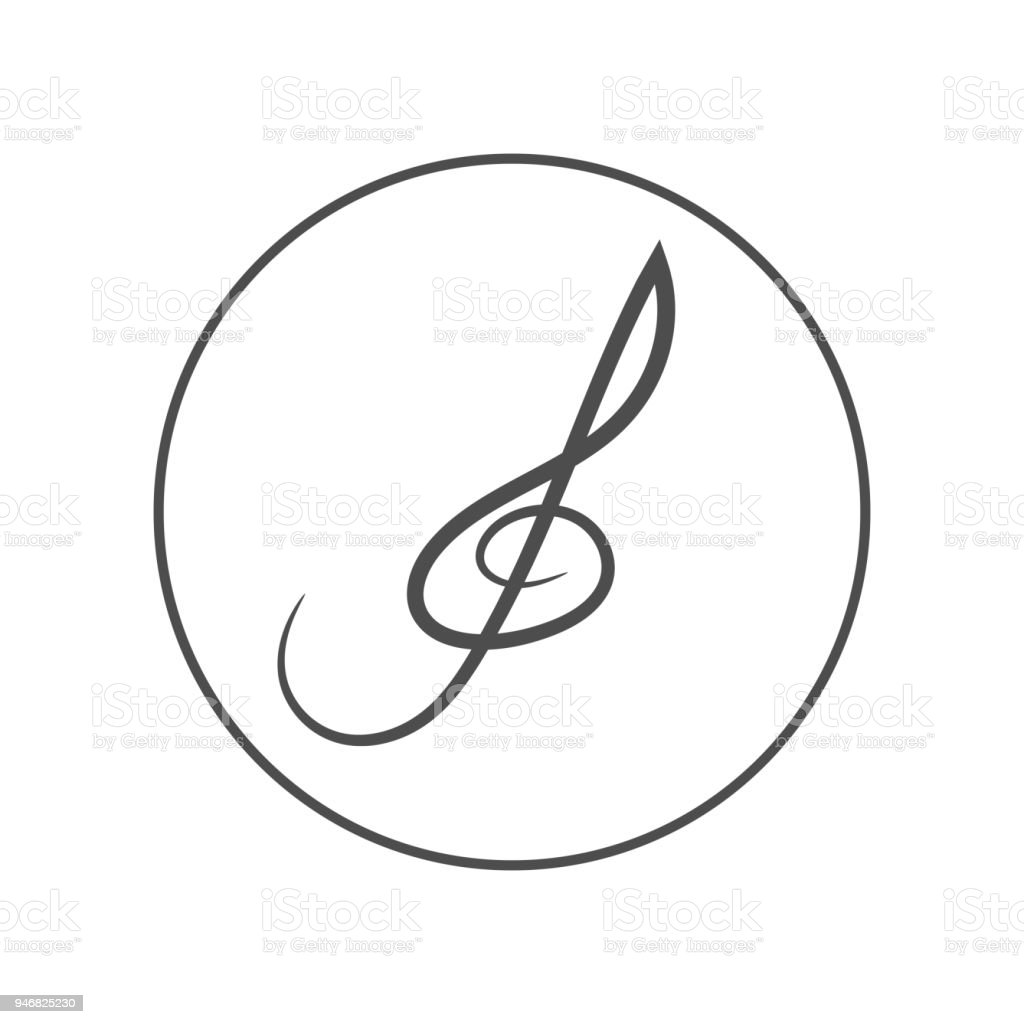 Treble Clef Symbol Vector Icon Stock Vector Art More Images Of Art