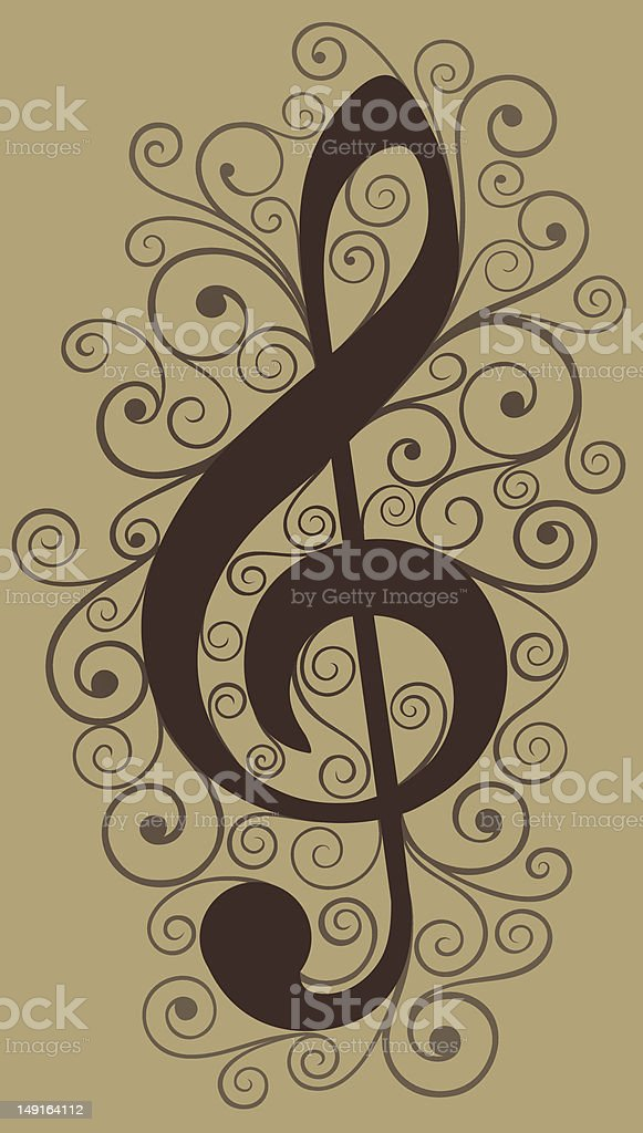 Treble Clef royalty-free treble clef stock vector art & more images of beige