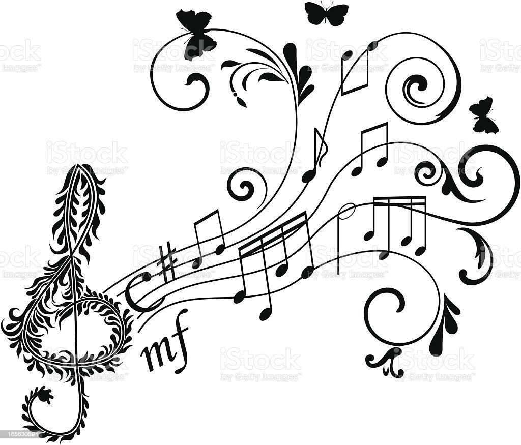 Treble clef royalty-free stock vector art