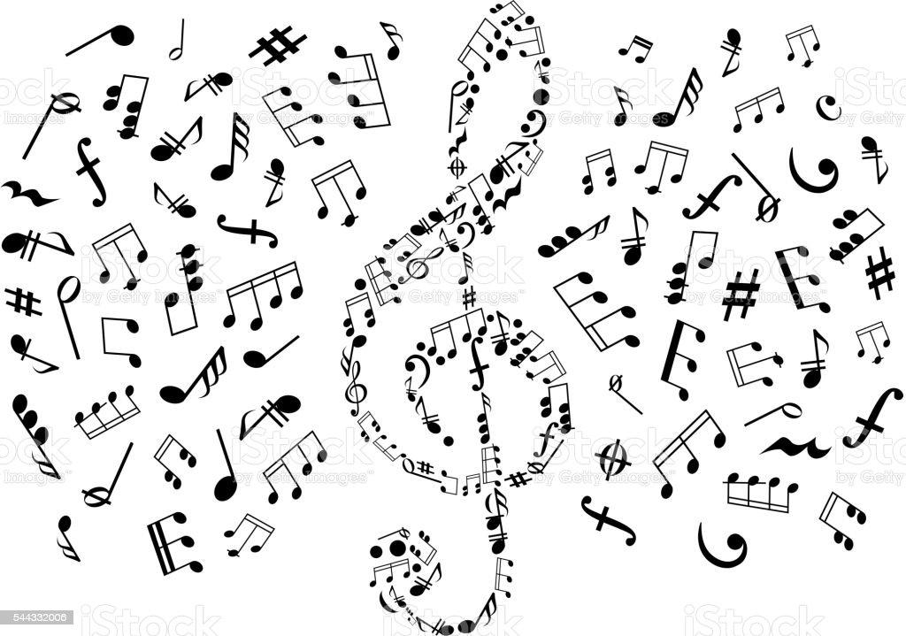 картинки скрипичный ключ и ноты