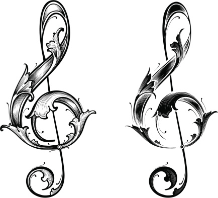 Designed by a hand engraver. Leafy treble clefs in high detail. Scale to any size without loss of quality with the enclosed EPS, AI, files. Also includes high resolution JPG.