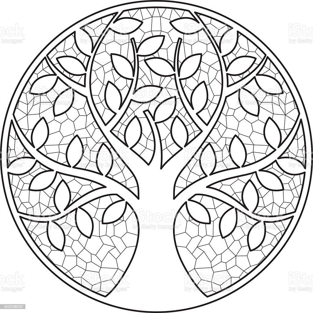 Tree 1 vector art illustration