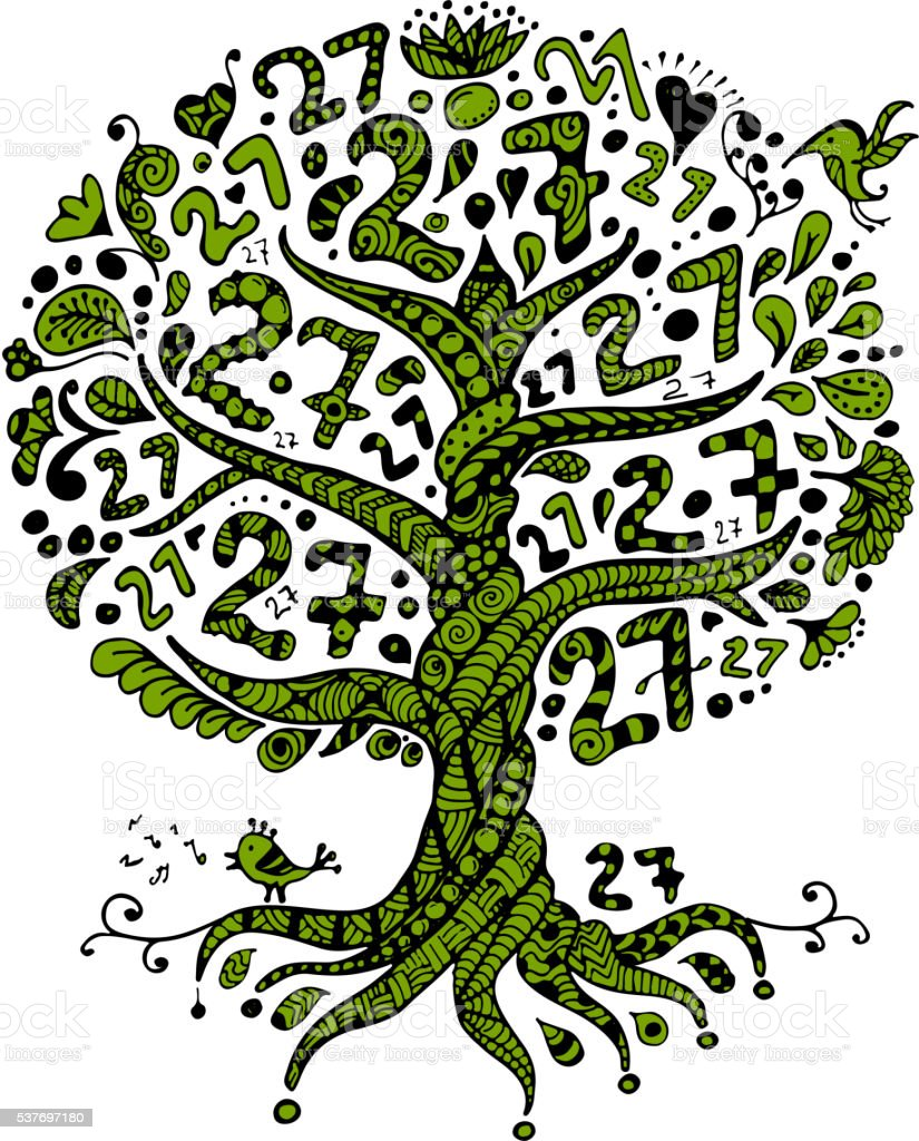 27 Baum mit Wurzeln für Ihr design – Vektorgrafik