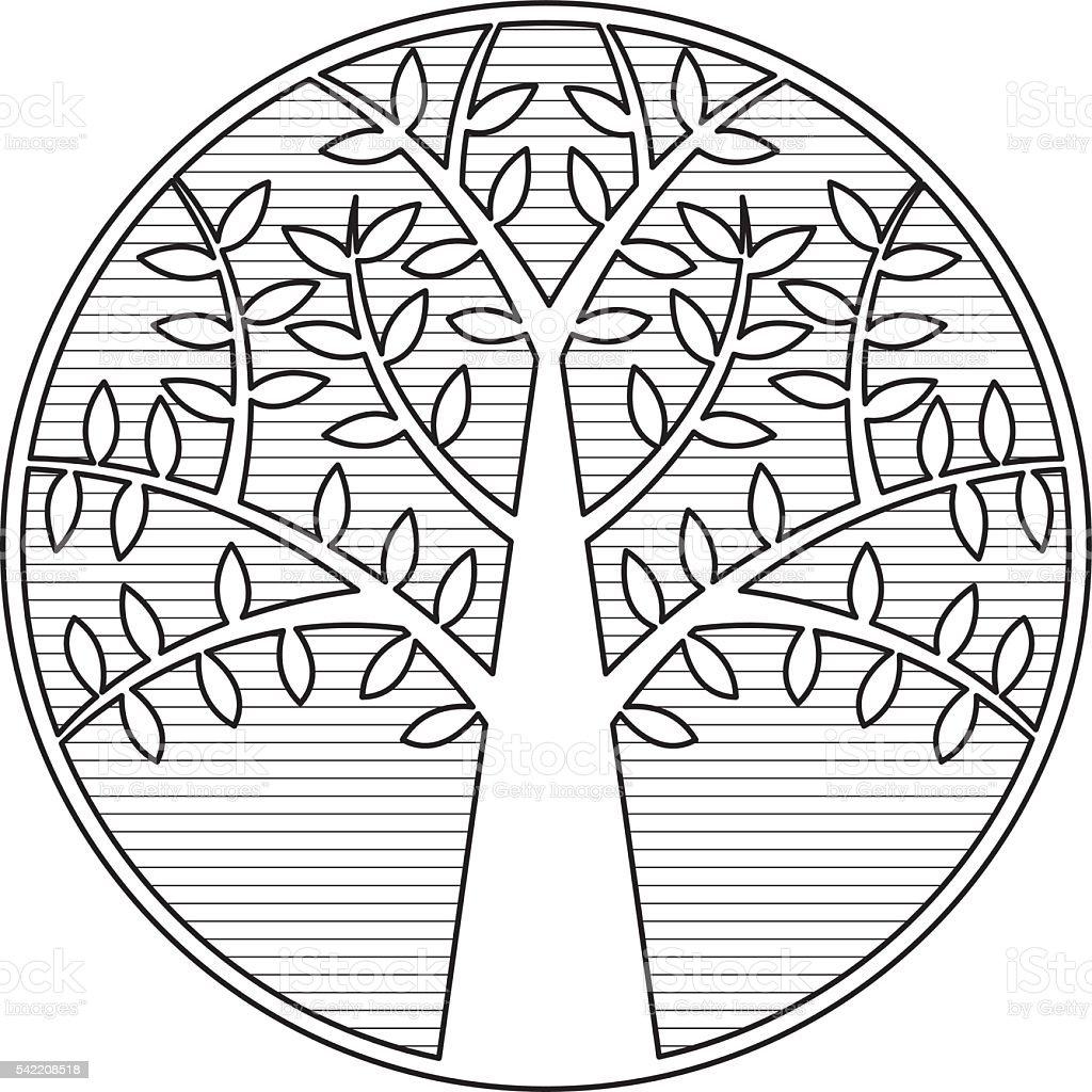 Tree 3 vector art illustration