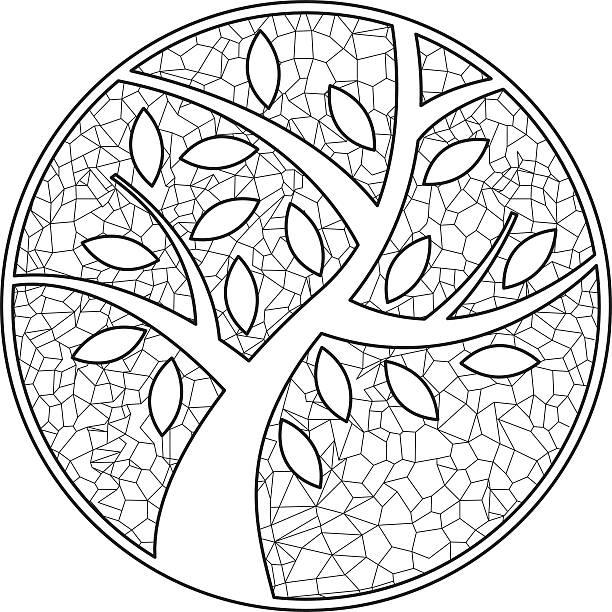 Tree 6 vector art illustration