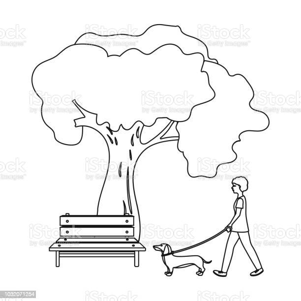 Tree and bench woman walks a pet in the park pet dog care single icon vector id1032071254?b=1&k=6&m=1032071254&s=612x612&h=6exbud9vdvmcbekrjiziqeo8neho dbdalgdqntjjig=