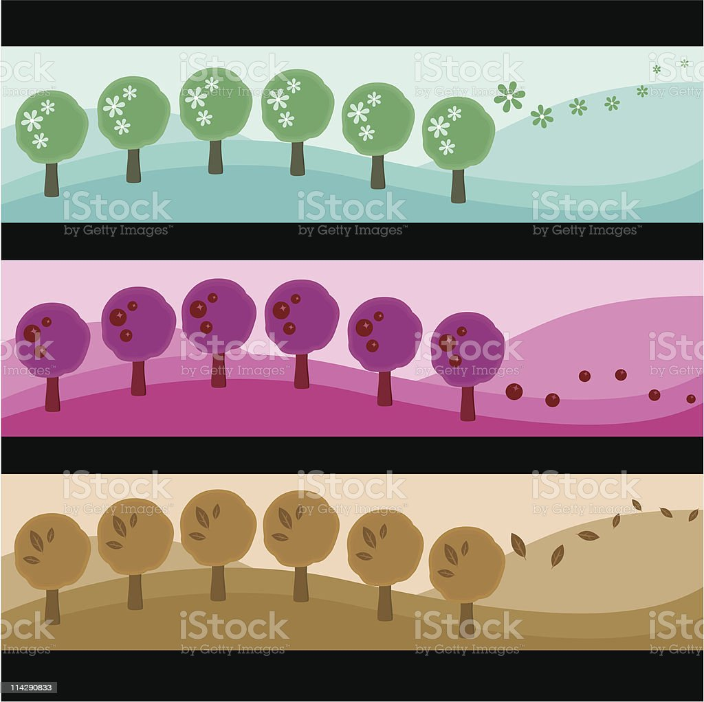 tree background royalty-free stock vector art