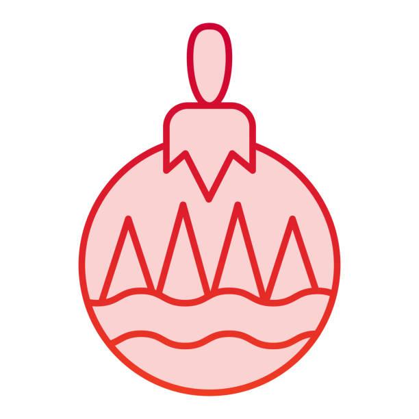 illustrazioni stock, clip art, cartoni animati e icone di tendenza di icona del colore della palla dell'albero. simbolo di decorazione giocattolo albero, pittogramma in stile sfumato su sfondo bianco. segnale natalizio per concetto mobile e web design. grafica vettoriale. - souvenir