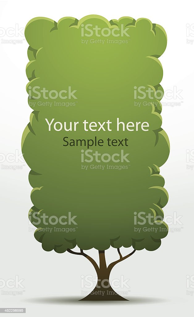 Tree banner rectangular big royalty-free stock vector art