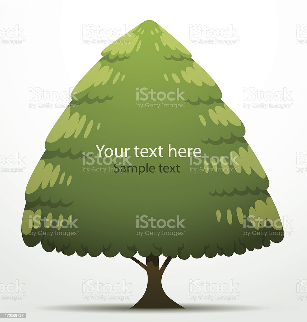Tree banner triangular big royalty-free stock vector art