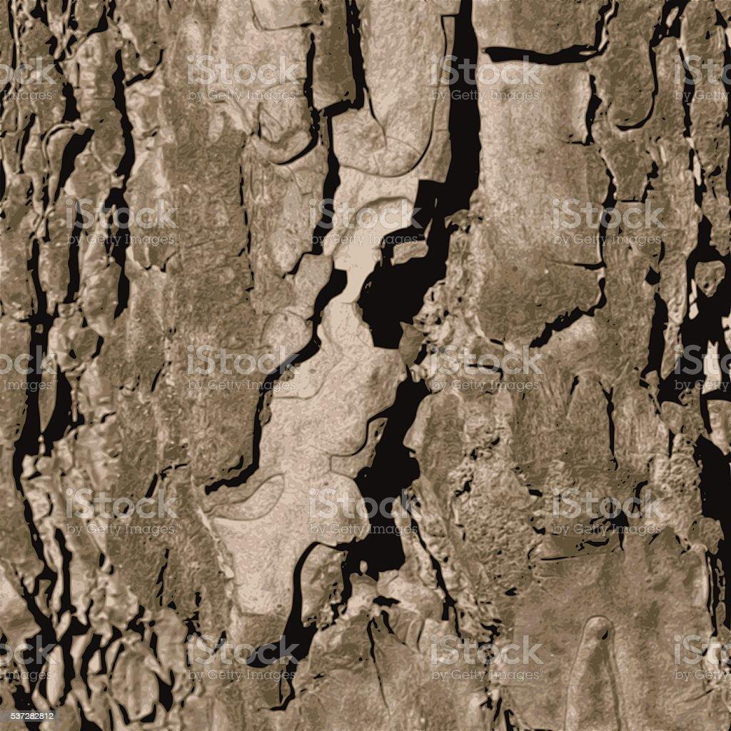 Tree bark texture vector art illustration