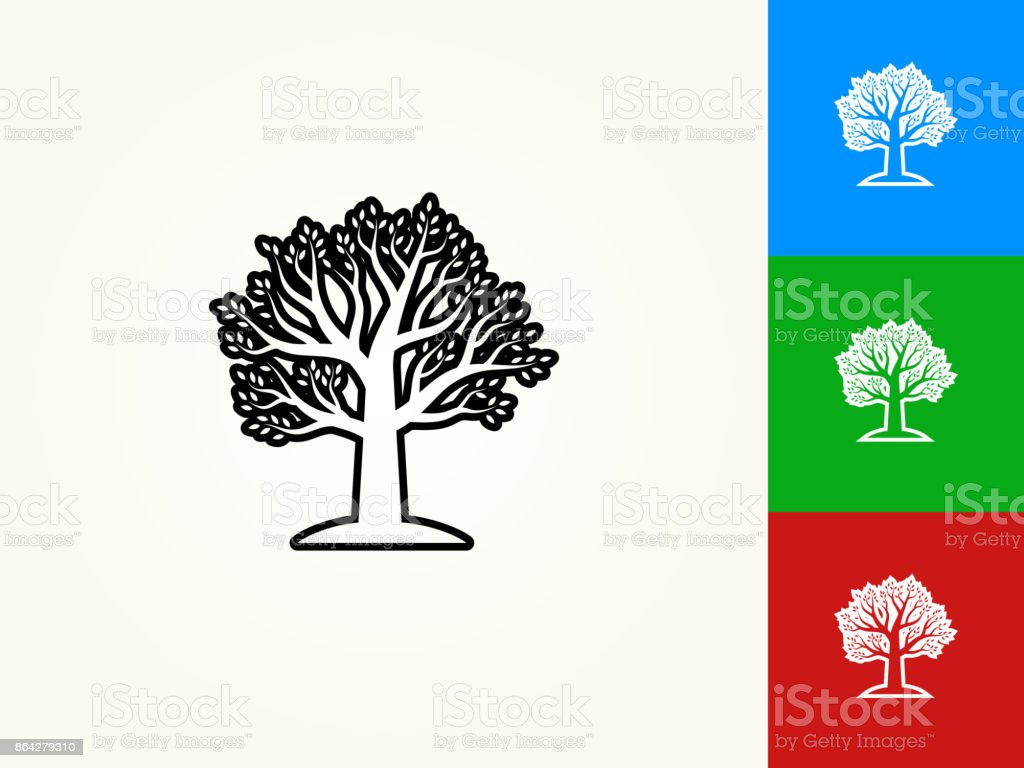 Tree Black Stroke Linear Icon royalty-free tree black stroke linear icon stock vector art & more images of black color