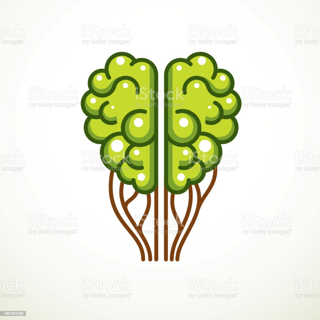 Tree Brain Concept The Wisdom Of Nature Intelligent Evolution Human ...