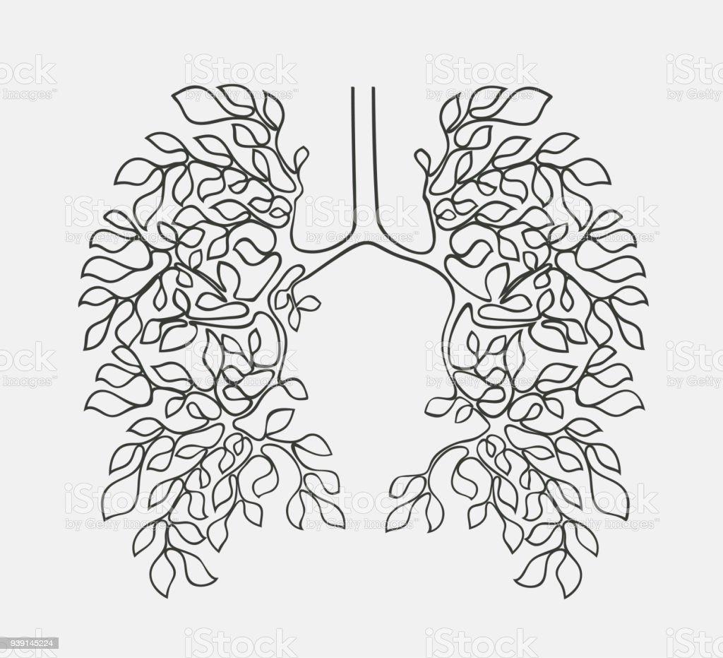 Äste Wie Ein Atmungssystem Stock Vektor Art und mehr Bilder von ...