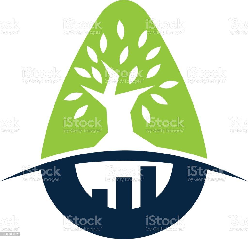 Tree Business Incubator vector art illustration