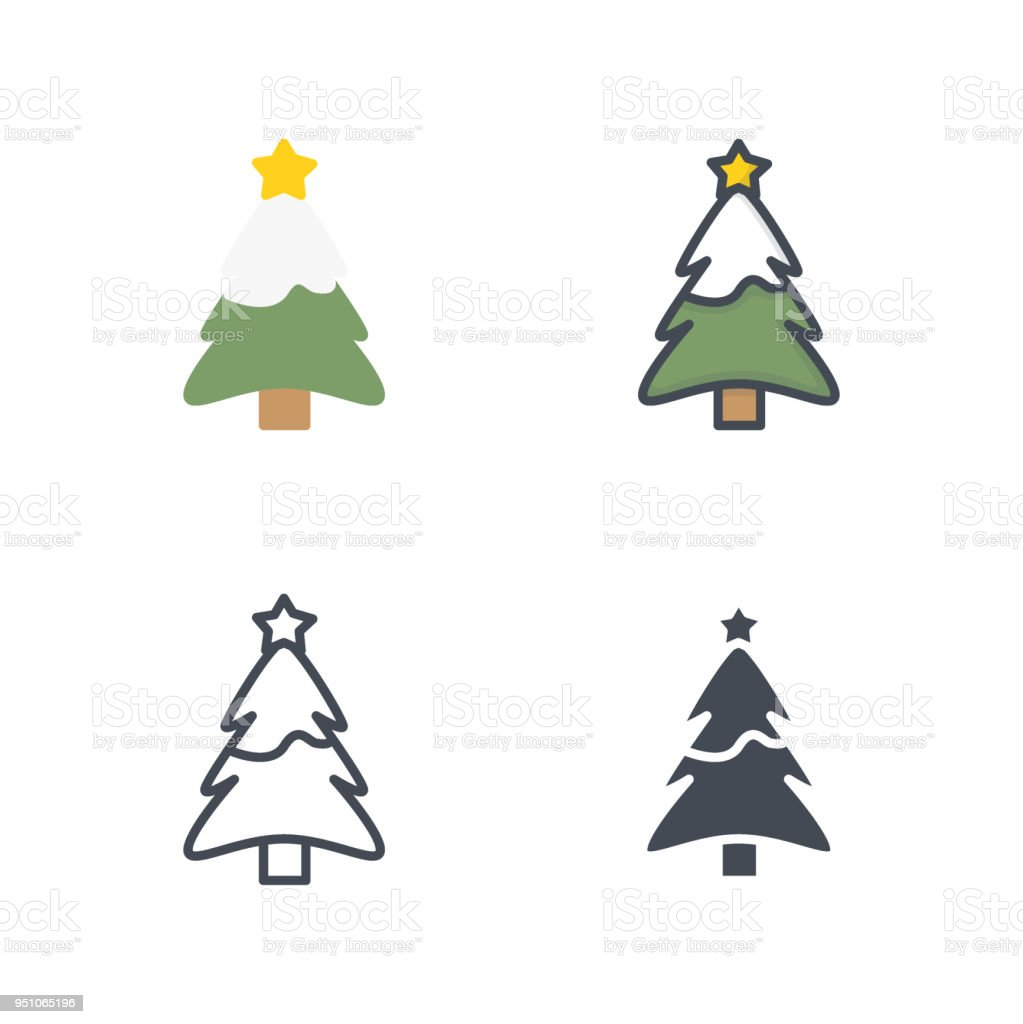 Christmas Holidays Icon.Tree Christmas Holidays Icon Vector Flat Icon Silhouette